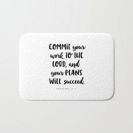 Proverbs 16:3 - Bible Verse Bath Mat