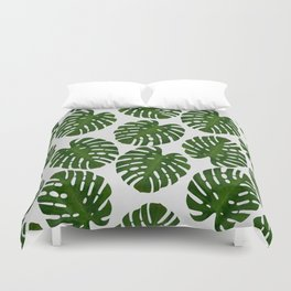 Monstera Leaf III Duvet Cover