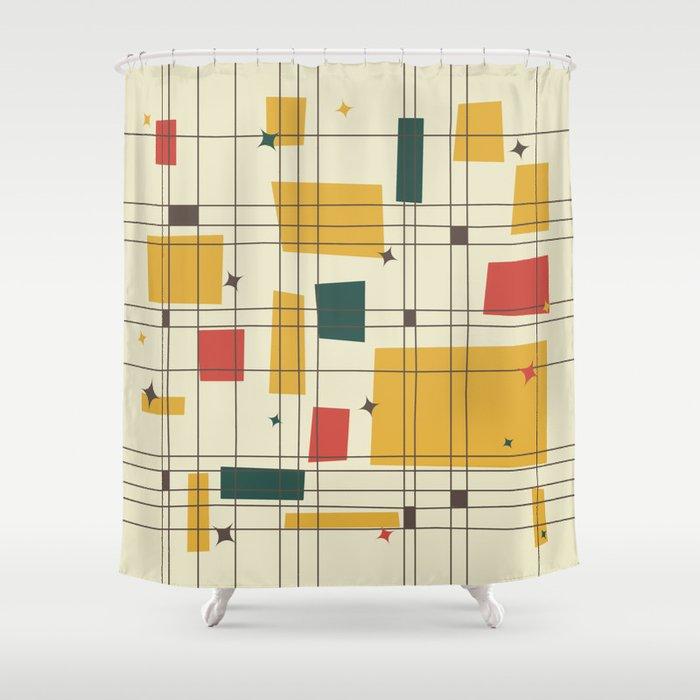 Superior Mid Century Modern (gold) Shower Curtain