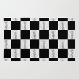 Checkerboard Pussy Rug