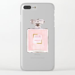 Classic Pink Parfum Perfume Fashion Cute Minimalism Clear iPhone Case