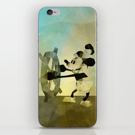 Mickey Mouse as Steamboat Willie iPhone Skin