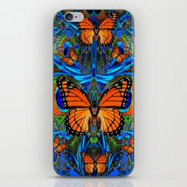 """FOR THE LOVE OF MONARCHS & BLUE PEACOCKS"" iPhone Skin"