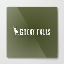 Deer: Great Falls, Montana Metal Print