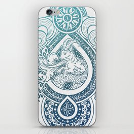 Paisley Capricornus | Turquoise Blue Ombré iPhone Skin