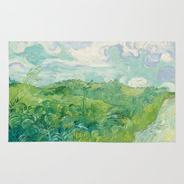 Vincent van Gogh Green Wheat Fields, Auvers 1890 Painting Rug
