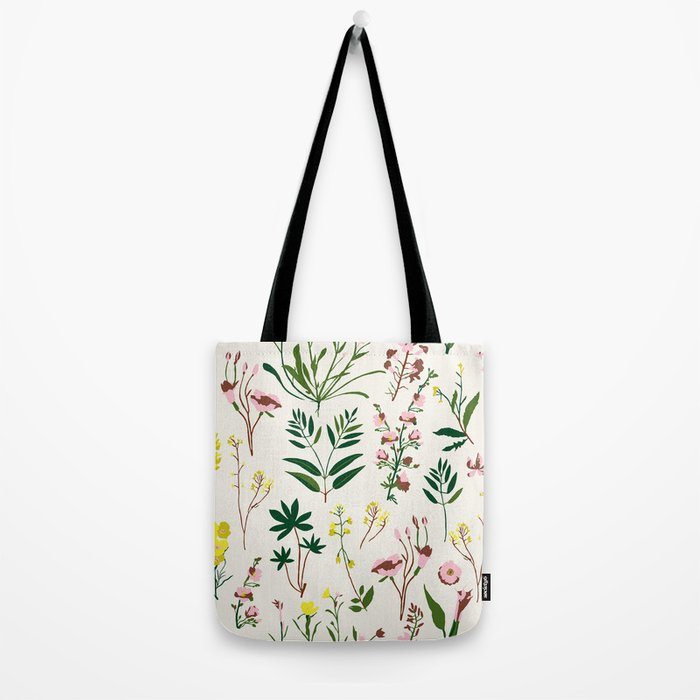 WILDFLOWER STUDY Tote Bag