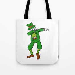 Dabbing Skeleton St Patrick_s Day Leprechaun Tote Bag
