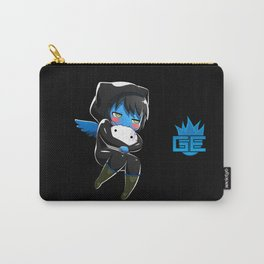 Fuzzy Chibi Luc (Expression 2) w/ Black Background (no cloud) Carry-All Pouch
