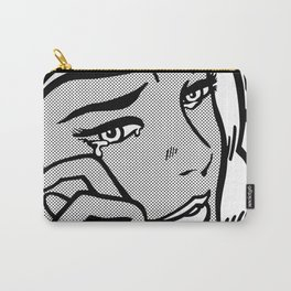Crying-Girl02 B&W Carry-All Pouch