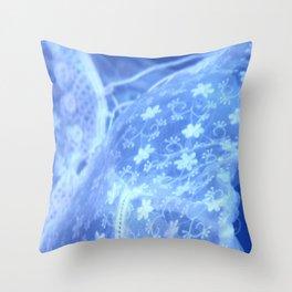 electric blue meme Throw Pillow