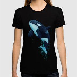 """The Matriarch"" by Amber Marine ~ Orca / Killer Whale (J2 Granny) Watercolor Art, (Copyright 2016) T-shirt"