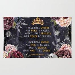 Three Dark Crowns Rug