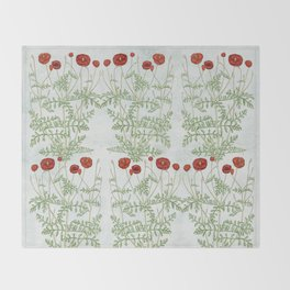 A reminder of past poppies Throw Blanket