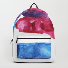 bisexual watercolor flag Backpack