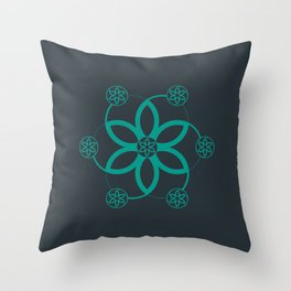 Evolution | Alien crop circle | Sacred geometry Throw Pillow