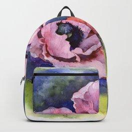 Watercolor Poppies Flowers Art Backpack