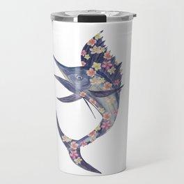 floral fish Travel Mug