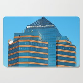 Blue And Gold Building Cutting Board