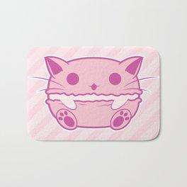 Pink Kawaii Cat Macaroon Bath Mat
