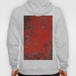 Acrylic Pour - Red Black Purple Gold Hoody