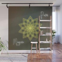 Solar plexus chakra balancing mandala Wall Mural