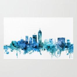 Indianapolis Indiana Skyline Rug