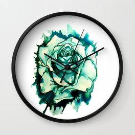 Inky Rose Wall Clock