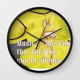 La música llena mi corazón Wall Clock