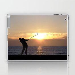 Playing Golf At Sunset Laptop & iPad Skin