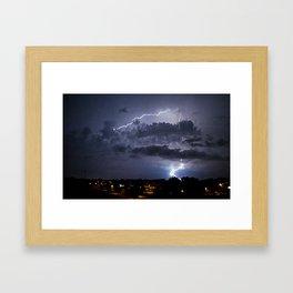 Electric Pretzel Framed Art Print