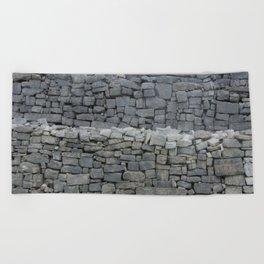 Dry stone wall Beach Towel
