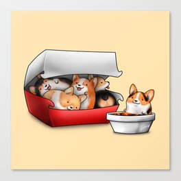 Corgi Nuggets Canvas Print