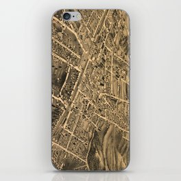 Vintage Pictorial Map of Durham NC (1891) iPhone Skin