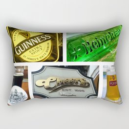 Happy Hour Neon Collage - Bar or Kitchen Decor Rectangular Pillow