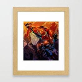 Heros for Hire Framed Art Print
