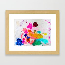 Pretty Paint Pallet Framed Art Print
