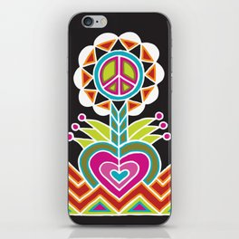 LOVE grows peace plant iPhone Skin