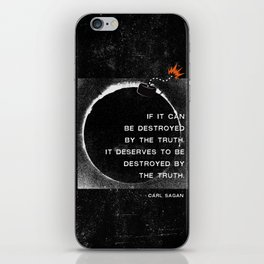 Carl Sagan Quote: Truthbomb iPhone Skin