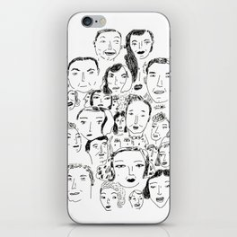 Face Group iPhone Skin