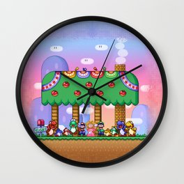 Super Mario World Happy Ending Wall Clock