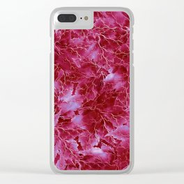 Frozen Leaves 23 Clear iPhone Case