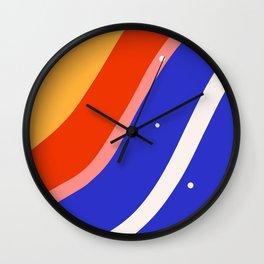 Whimsical waves Wall Clock
