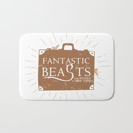 Beasts and where to HIDE them Bath Mat
