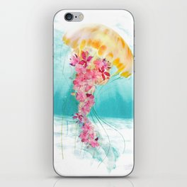 Jellyfish with Flowers iPhone Skin