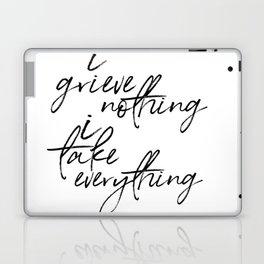 i grieve nothing Laptop & iPad Skin
