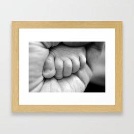 tiny tiny toes Framed Art Print