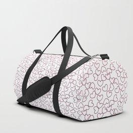 Hearts& hearts pattern (multicolor) Duffle Bag