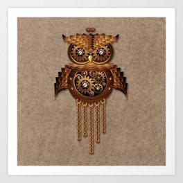 Steampunk Owl Vintage Style