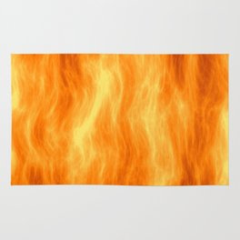 Red flame burning Rug